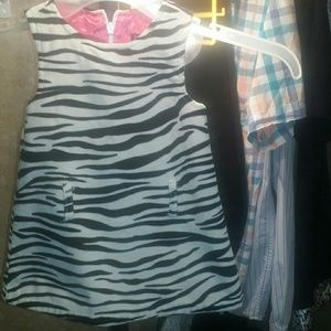 Zebra dress for baby